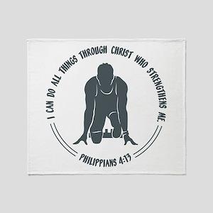 PHIL.4:13 - RUN Throw Blanket