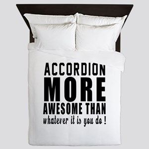 Accordion More Awesome Instrument Queen Duvet