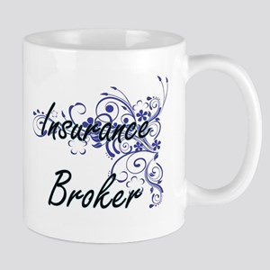 Insurance Broker Artistic Job Design with Flo Mugs