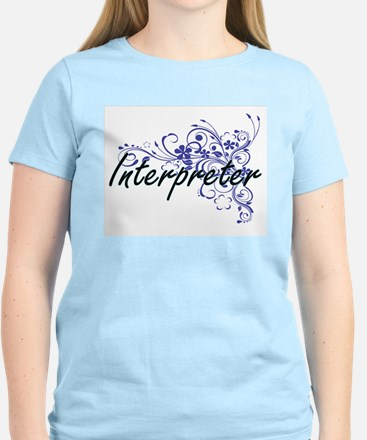 Interpreter Artistic Job Design with Flowe T-Shirt
