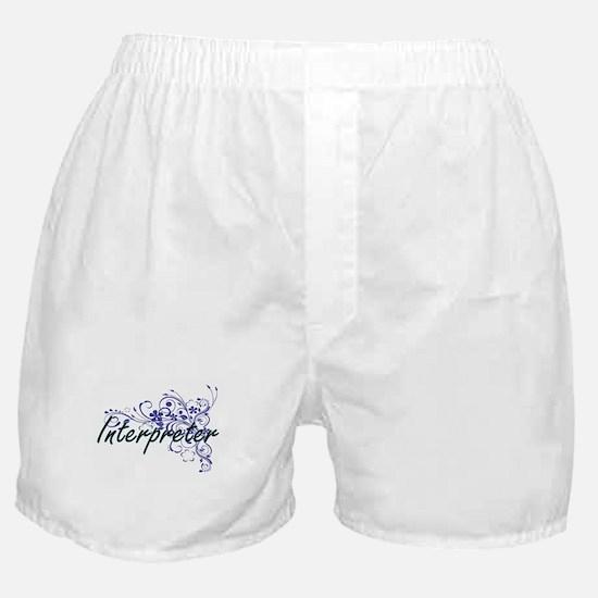 Interpreter Artistic Job Design with Boxer Shorts