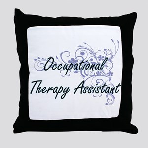 Occupational Therapy Assistant Artist Throw Pillow
