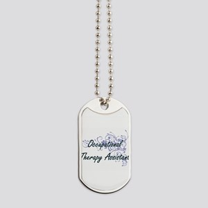 Occupational Therapy Assistant Artistic J Dog Tags