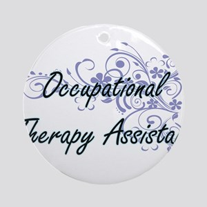 Occupational Therapy Assistant Arti Round Ornament