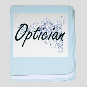 Optician Artistic Job Design with Flo baby blanket