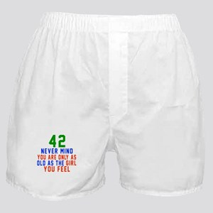 42 Never Mind Birthday Designs Boxer Shorts