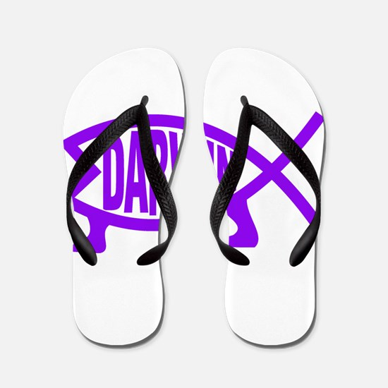 Original Darwin Fish (Purple) Flip Flops