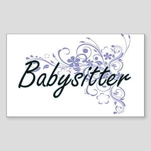 Babysitter Artistic Job Design with Flower Sticker
