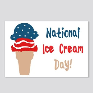 national ice cream day Postcards (Package of 8)