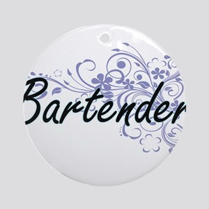 Bartender Artistic Job Design with Round Ornament