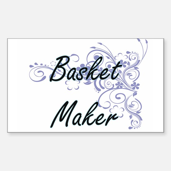 Basket Maker Artistic Job Design with Flow Decal