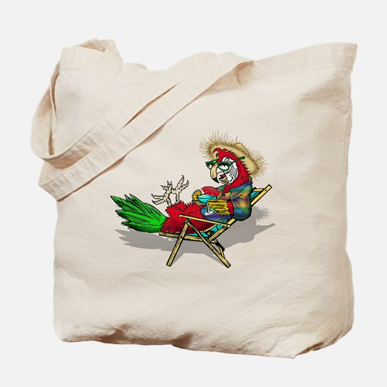 Parrot Beach Chair Tote Bag