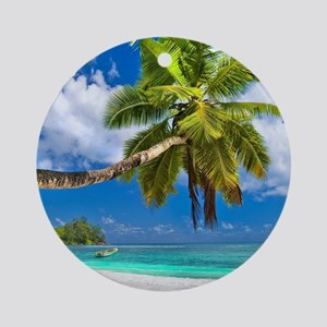 Tropical Beach Round Ornament