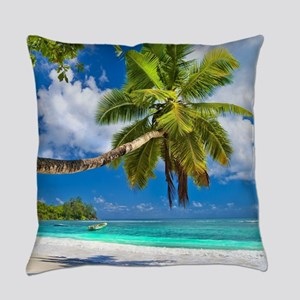 Tropical Beach Everyday Pillow