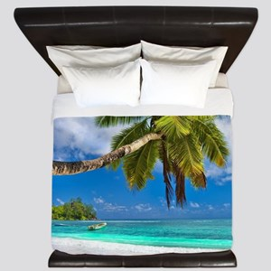 Tropical Beach King Duvet
