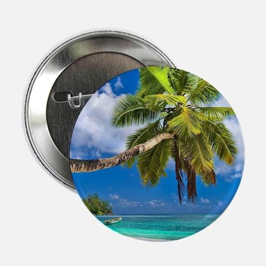 """Tropical Beach 2.25"""" Button (10 pack)"""