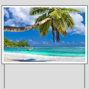 Tropical Beach Yard Sign
