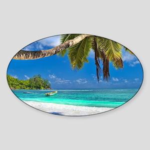 Tropical Beach Sticker