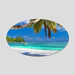 Tropical Beach Wall Sticker