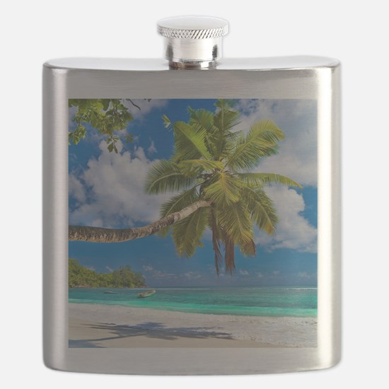 Tropical Beach Flask