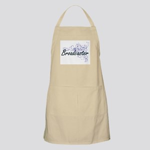 Broadcaster Artistic Job Design with Flowers Apron