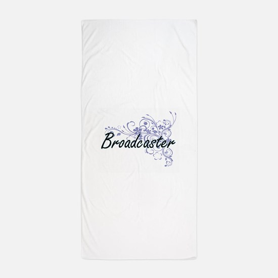 Broadcaster Artistic Job Design with F Beach Towel