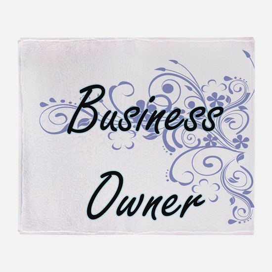 Business Owner Artistic Job Design w Throw Blanket