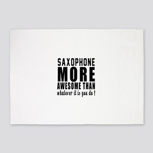 Saxophone More Awesome Instrument 5'x7'Area Rug