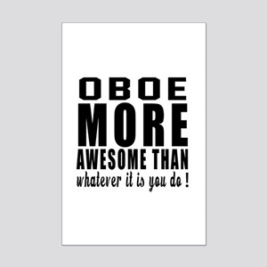 Oboe More Awesome Instrument Mini Poster Print