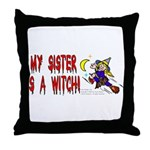 Witch! (Cute) Throw Pillow