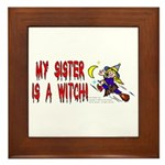 Witch! (Cute) Framed Tile
