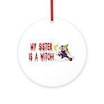 Witch! (Cute) Ornament (Round)