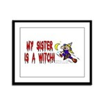 Witch! (Cute) Framed Panel Print