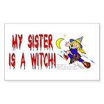 Witch! (Cute) Rectangle Sticker