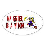Witch! (Cute) Oval Sticker