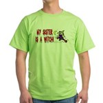 Witch! (Cute) Green T-Shirt