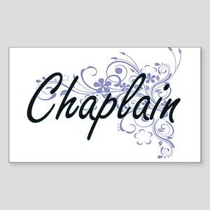 Chaplain Artistic Job Design with Flowers Sticker