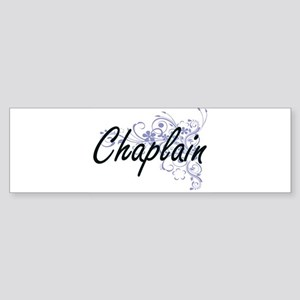 Chaplain Artistic Job Design with F Bumper Sticker