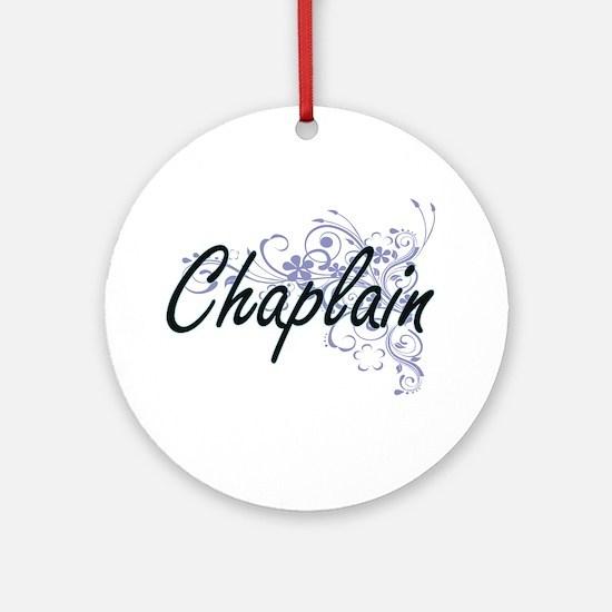 Chaplain Artistic Job Design with F Round Ornament