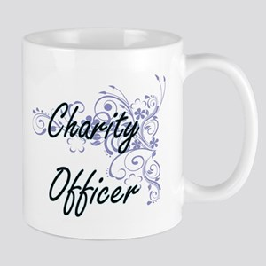 Charity Officer Artistic Job Design with Flow Mugs