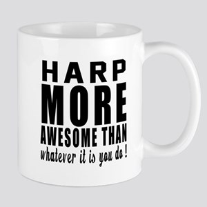 Harp More Awesome Instrument Mug