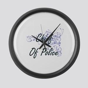 Chief Of Police Artistic Job Desi Large Wall Clock