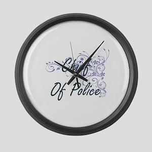 Chief Of Police Artistic Job Desi Large Wall Clock