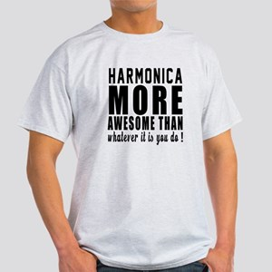 Harmonica More Awesome Instrument Light T-Shirt