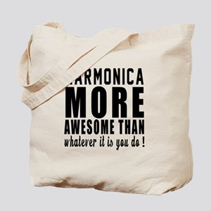 Harmonica More Awesome Instrument Tote Bag