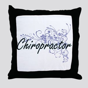 Chiropractor Artistic Job Design with Throw Pillow