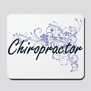 Chiropractor Artistic Job Design with Fl Mousepad