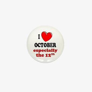 October 12th Mini Button