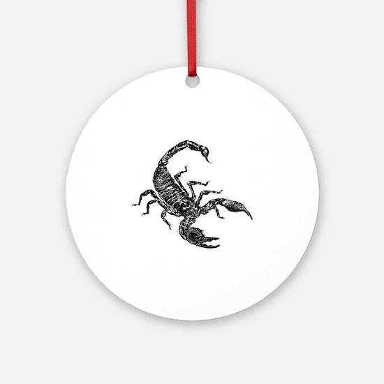Black Scorpion Round Ornament