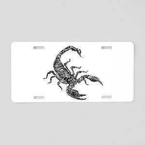 Black Scorpion Aluminum License Plate
